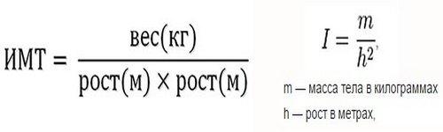 Формула, по которой рассчитывают индекс массы тела